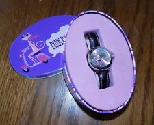PINK PANTHER 40th Anniversary Ladys Watch by SHAG, Black Band NEW BATTERY   RARE