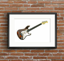 Rory Gallagher's Fender Stratocaster - POSTER PRINT A1 size