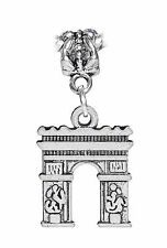 Arc de Triomphe Triumphal Arch Paris France Dangle Bead for Euro Charm Bracelet