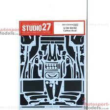 1/20 Benetton B192 Ford Carbon Fibre decal set ~ Studio 27 ~ S27CD20029 ~ Tamiya