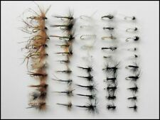 50 Summer Trout Fishing Flies, Dry Flies, Named Varieties and mixed sizes