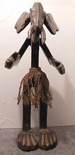 Elephant Man Vintage African Wood Statue Large 21 inches African Art