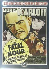 BORIS KARLOFF THE FATAL HOUR DVD CLASSIC HORROR