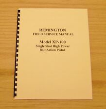 Remington Model XP-100 Field Service Manual - Gunsmith - #22