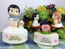 Love is kim Music boxes Love is series of Up and downs, and walking Dog in Winte
