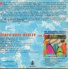 "THE BEACH BOYS ""BEACH BOYS MEDLEY"" RARE & EXCLUSSIVE SPANISH PROMO CD SINGLE"