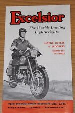 Excelsior Motorcycles & Scooters Abridged List 1961 Models & Price List