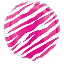 "Zebra Animal Print Party - 18"" Foil Balloon - Free Post in UK"