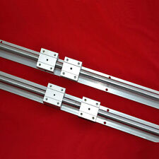 NEW 2 linear bearing slide unit SBR20-800mm linear rails+4 blocksfor CNC