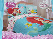 New Disney Little Mermaid Ariel Twin Comforter Blue Under the Sea Reversible