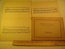 "(lot of 9) Vintage Sheet Music Cards 5""x7"" 1932 BELIEVE ME IF ALL THOSE.. [Z23b]"