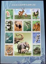 CHINA WILDLIFE STAMPS SHEET WILD ANIMALS PANDA DOLPHIN TIGER ELEPHANT BUTTERFLY