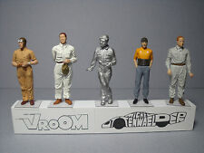 5  FIGURINES 1/43  SET 306  NUVOLARI  PILOTES  ANNEES  30  VROOM  UNPAINTED