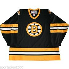 BOSTON BRUINS CCM VINTAGE COLLECTION 1976 TO 1995 AWAY BLACK ADULT XL JERSEY!