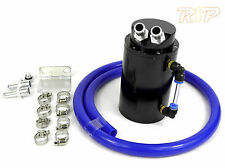 Black Alloy Oil Catch Tank/Can + Blue Hose Mini One Cooper S Clubman
