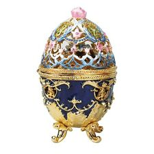 Peter Carl Fabergé Hummingbird Enameled Egg Replica
