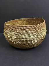 Antique American Indian Hupa Karuk Yurok Basketry Food Mush Bowl