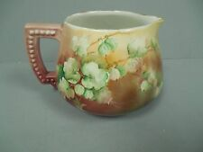 Antique JPL Jean Pouyat Limoges Hand Painted Pitcher Jug Artist Signed