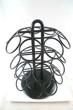K-Cup Coffee Carousel Black Wrought Iron Holds 27 Cups