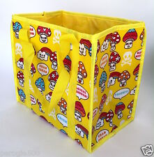 Japanese Cram Cream Kawaii Magic Mushrooms Lunch Picnic Bag Tote Thermo NWT