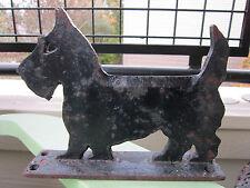 XRARE ANTIQUE ORIGINAL 1926 CAST IRON BLACK SCOTTIE DOG BOOT SCRAPER DOORSTOP