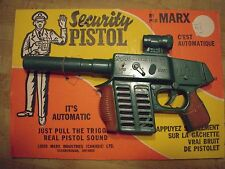 Vintage Canadian MARX Toy Rifle Security Pistol Mint Linemar