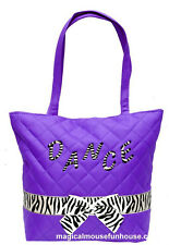 Girls Zebra Dance Tap Tote Bag Turquoise, Lime Green, Purple and Pink