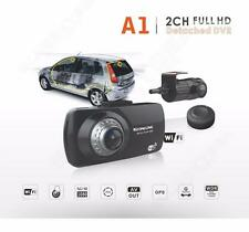 "2.7"" 2ch Dual Lens Front Rearview HD 1080P Car Dashcam Wifi GPS Video Camera DVR"