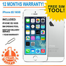 Apple iPhone 5s 16GB Factory Unlocked - White / Silver