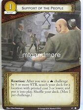 A Game of Thrones 2.0 LCG - 1x Support of the People  #017 - Taking the Black