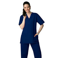 Unisex Men Women Medical Hospital Clinic Nursing Scrub Set Navy XS