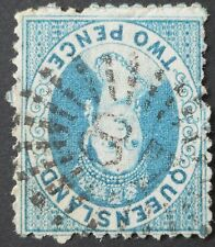 Queensland 1868 2d with 87 numeral postmark