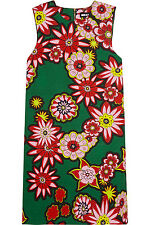 HOUSE OF HOLLAND Stamp Multi-colored Floral Printed Cotton-Canvas Mini Dress NWT