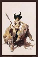 ~~ FRANK FRAZETTA ~ THE HUNTRESS 24X36 POSTER ~~