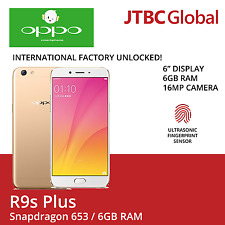 New Oppo R9s Plus 6 Inch 4G LTE 64GB Dual Sim Factory Unlocked Android phone