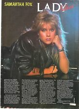 SAMANTHA FOX is a Kerrang lady killer magazine PHOTO/Poster/clipping 11x8 inches