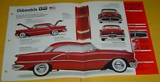 1956 Oldsmobile 88 Holiday hardtop coupe Mod J2 371 ci 410 hp 3 Carbs Spec/photo