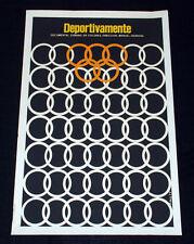 """1977 Original Cuban Movie Poster.Plakat.Affiche.affisch""""Olympics.Sports art"""