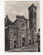 Firenze Duomo e Campanile Italy Vintage RP Postcard 372b