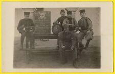 cpa Carte Photo Père Cent LAGHOUAT SOLDATS du 1er RTA et 19e COA Armée d'Afrique