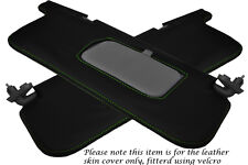 GREEN STITCH FITS SUBARU IMPREZA WRX STI 92-98 2X SUN VISORS LEATHER COVERS ONLY