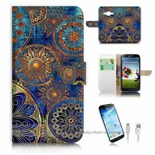 Samsung ( J1 6 / J1 2016 ) Flip Wallet Case Cover! S8500 Abstract Flower