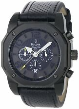 Bulova Men's 98B151 Marine Star Chronograph Watch With Black Leather Band