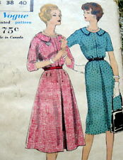 LOVELY VTG 1950s DRESS VOGUE Sewing Pattern 18/38