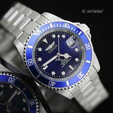 AUTOMATIC Invicta Pro Diver Blue Dial Coin Edge Bezel Stainless Steel Mens Watch