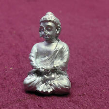 Silver Buddha Ornament, Doll House Miniatures, Accessory Ornamental Statue