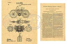 1895 Patent for the ELECTRIC MOTORCYCLE/Bicycle/Scooter ~ Libbey 1897 PM#972