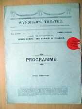 Wyndham's Theatre Programme 1910- George Paston's NOBODY'S DAUGHTER