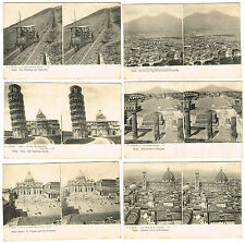 OLD STEREOVIEW POSTCARDS L'ITALIE / ITALY LL SERIES EARLY UNDIVIDED BACKS C.1900
