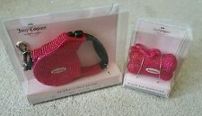 NEW! Juicy Couture PINK Retractable Leash & Bag Dispenser Limited Edition